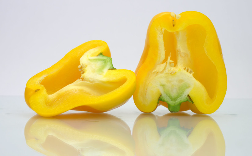 Yellow Pepper Cut